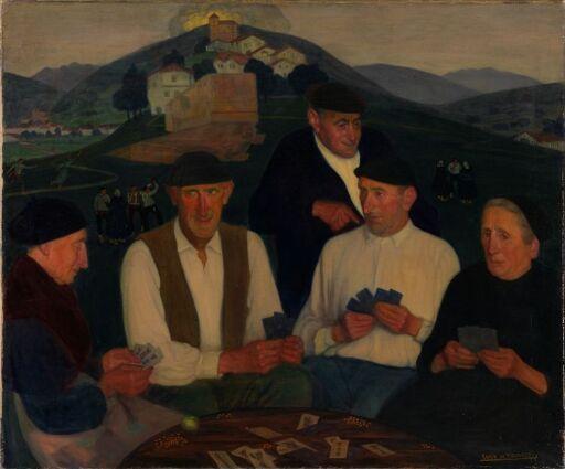Kortspillende baskiske bønder