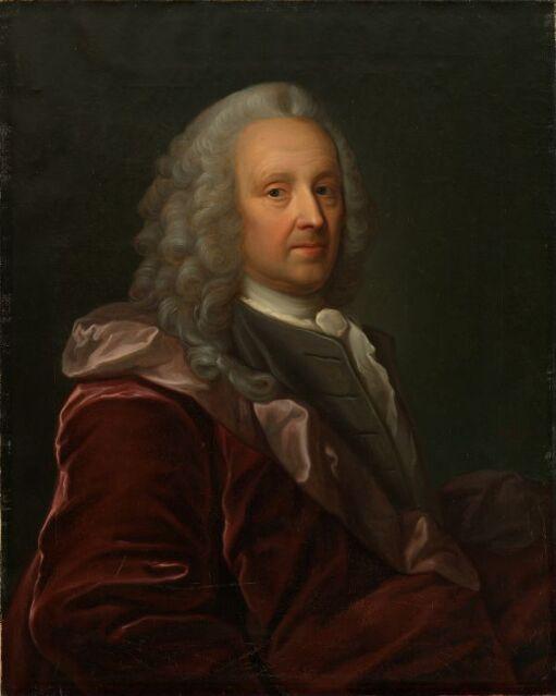 Portrett av Ludvig Holberg. Kopi etter Johan Rosel