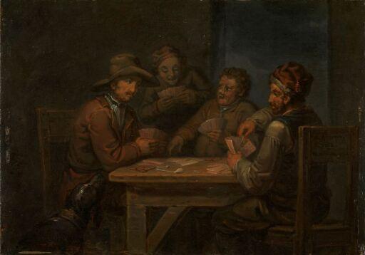 Bønder som spiller kort