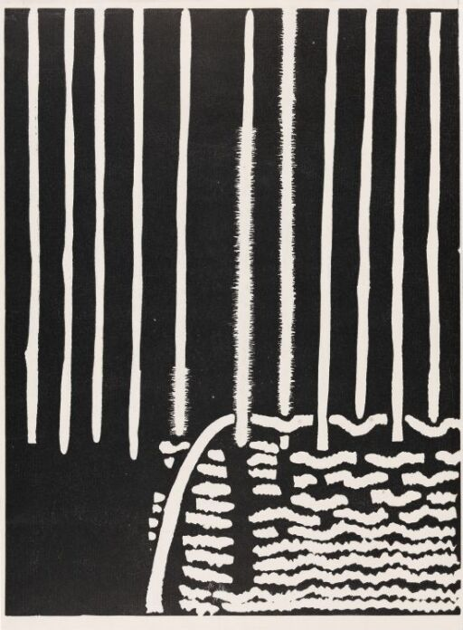 Plakat til Synnøve Aurdals utstilling av billedvev