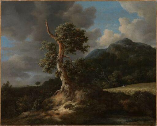 Mountainous Landscape with a Blasted Oak Tree