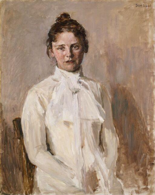 Portrait of Valborg Nicolaysen, the Artist's Sister