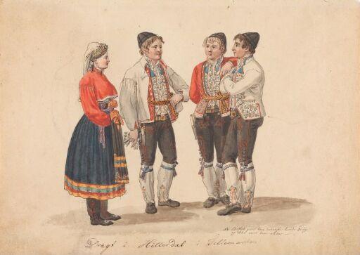 Draktstudier fra Heddal i Telemark