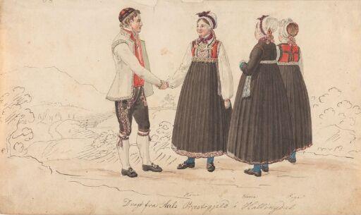 Draktstudier fra Ål i Hallingdal