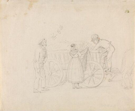 To menn og en kvinne ved et høylass