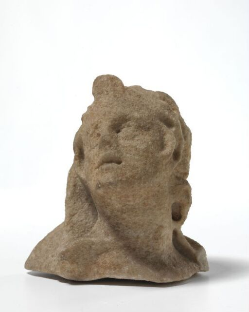 Satyr head from sarcophagus relief