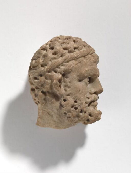 Head of Hercules from sarcophagus relief