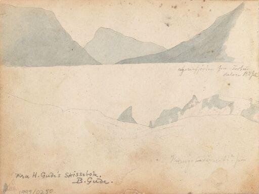 Lustrafjorden sett fra Fortunsdalen; Hurrungene