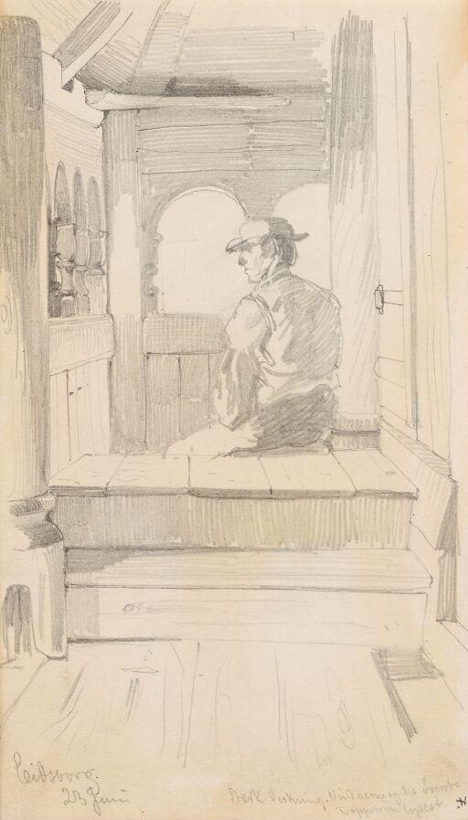 Mannsfigur i interiør, Eidsborg