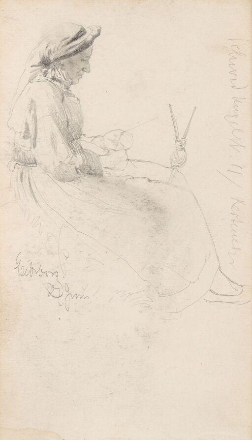 Kvinne som nøster garn, Eidsborg