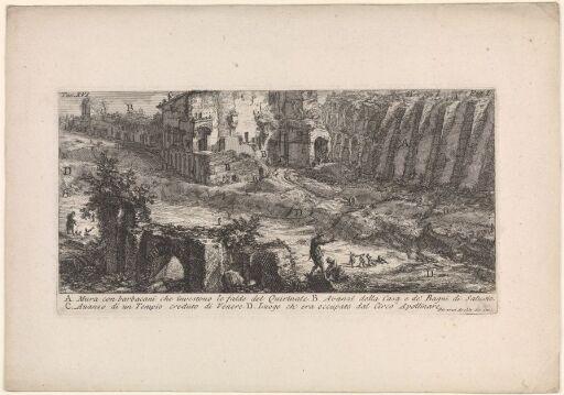 Støttemurer ved foten av Quirinalen