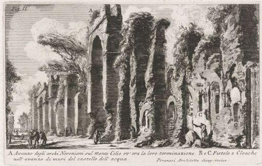 Levninger av Neros buer på Monte Celio