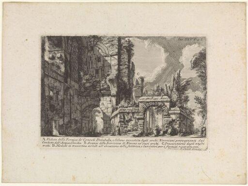 Konsulene Dolabellas og Silanus' bue, bygget inn i buene som ledet Aqua Claudia-akvedukten