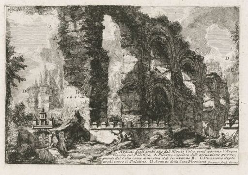 Remains of the arches of the aqueduct which carried the Acqua Claudia ...