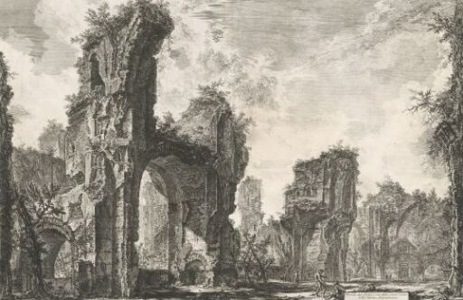 Ruinene av Xystus, den store salen i Caracallas termer