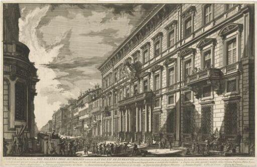 Det franske akademi i Via del Corso, grunnlagt av Ludvig XIV, konge av Frankrike