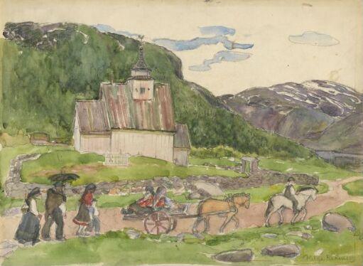 Til kirke, Bykle i Setesdal