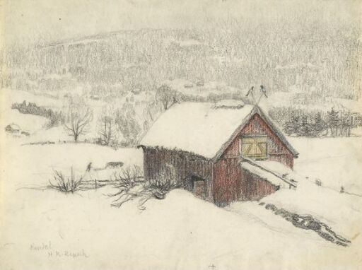 Winter Landscape with Barn