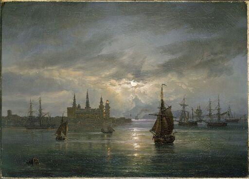 Kronborg Castle in Moonlight