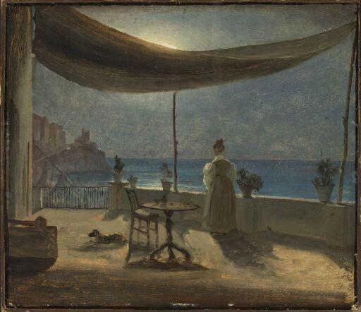 A Terrace in Amalfi in Moonlight