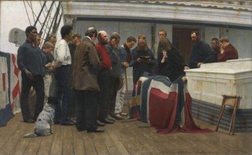 En begravelse ombord