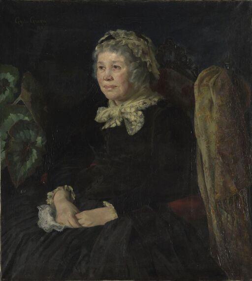 Portrett av eldre dame