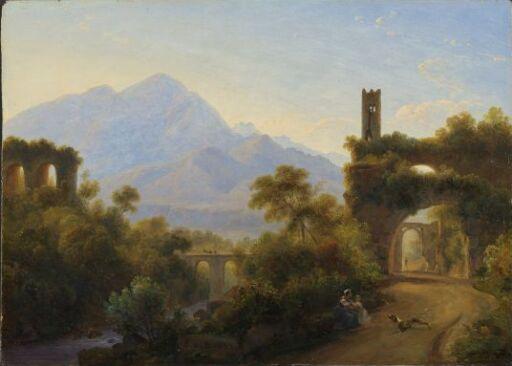 Ruiner i et italiensk landskap