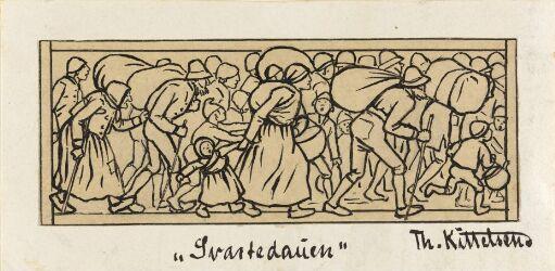 """Hun farer landet rundt. Til """"Svartedauen"""", 1900"""