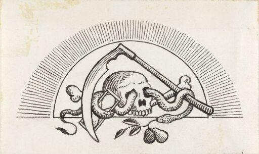 "Hun farer landet rundt, sluttvignett. Til ""Svartedauen"", 1900"