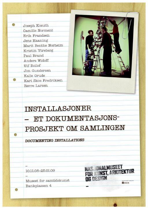 Installasjoner- et dokumentasjonsprosjekt om samlingen